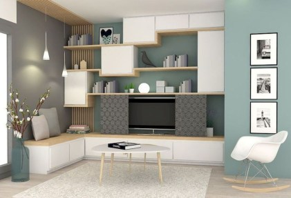 Amazing Wall Storage Items For Your Contemporary Living Room17