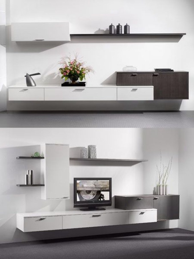 Amazing Wall Storage Items For Your Contemporary Living Room21