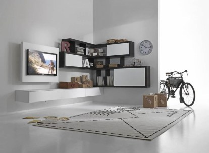Amazing Wall Storage Items For Your Contemporary Living Room36