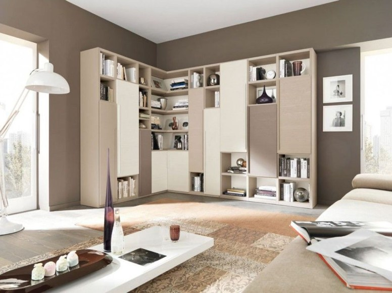 Amazing Wall Storage Items For Your Contemporary Living Room45