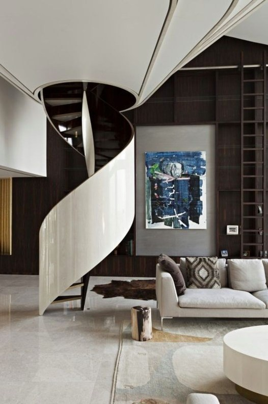 Modern Staircase Designs For Your New Home29