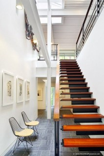 Modern Staircase Designs For Your New Home34