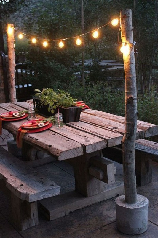 Simple Backyard Step Lights Fire Pits17