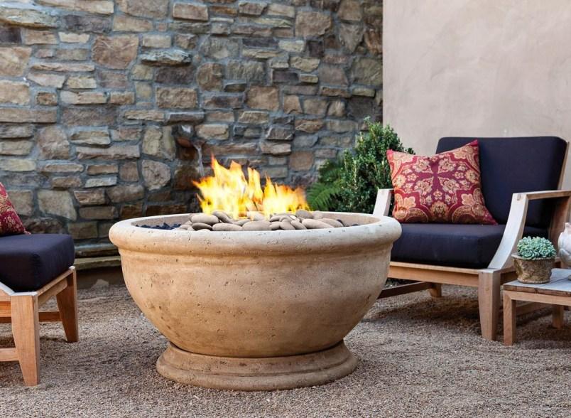Simple Backyard Step Lights Fire Pits18