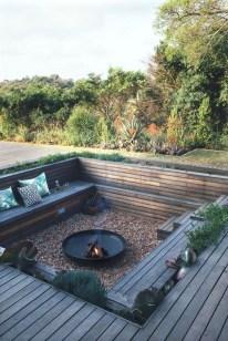 Simple Backyard Step Lights Fire Pits37