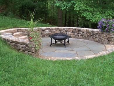 Simple Backyard Step Lights Fire Pits45
