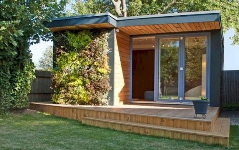Amazing Backyard Studio Shed Design17