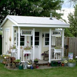 Amazing Backyard Studio Shed Design18