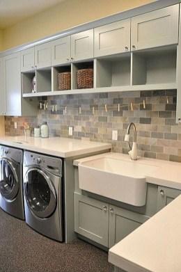 50 Amazing Laundry Room Tile Design - HOMISHOME on Amazing Laundry Rooms  id=48904