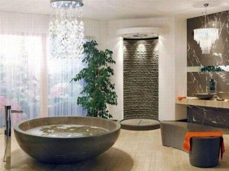 Elegant Stone Bathroom Design39