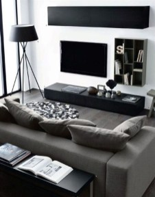Lovely Black And White Living Room Ideas12