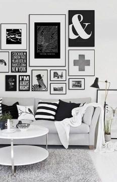 Lovely Black And White Living Room Ideas17
