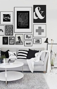 Lovely Black And White Living Room Ideas17