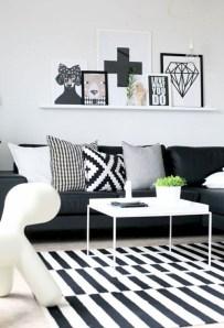 Lovely Black And White Living Room Ideas19