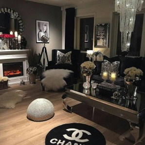 Lovely Black And White Living Room Ideas20