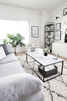 Lovely Black And White Living Room Ideas24