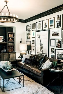 Lovely Black And White Living Room Ideas27