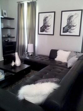 Lovely Black And White Living Room Ideas33