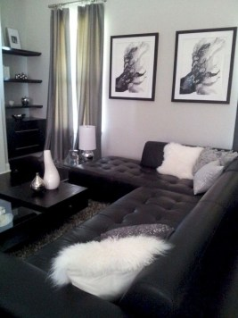 Lovely Black And White Living Room Ideas33