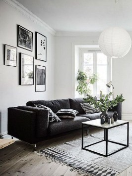 Lovely Black And White Living Room Ideas35