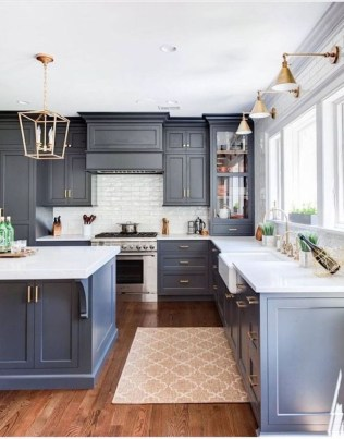 Lovely Blue Kitchen Ideas31