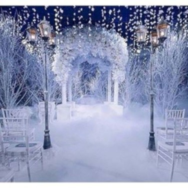 Lovely Winter Wedding Decoration08