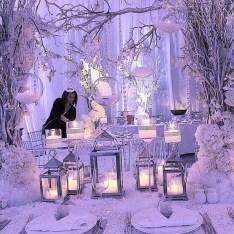 Lovely Winter Wedding Decoration17