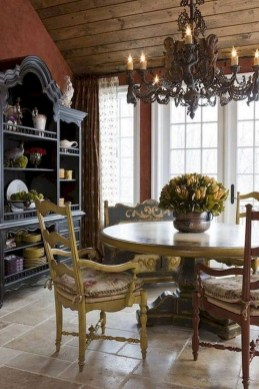 Stunning Country Dining Room Design Ideas09
