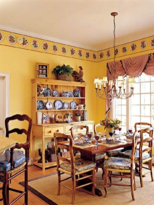 Stunning Country Dining Room Design Ideas34