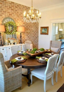 Awesome Country Dining Room Table Decor Ideas18