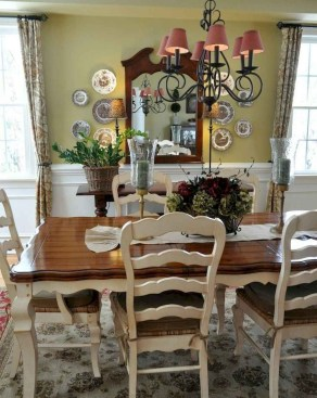 Awesome Country Dining Room Table Decor Ideas28