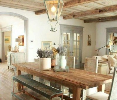 Awesome Country Dining Room Table Decor Ideas38