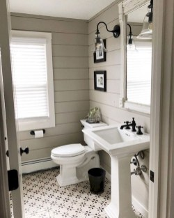 Best Farmhouse Bathroom Remodel11