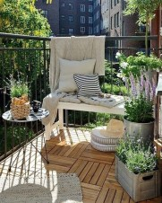 Exciting Small Balcony Decorating For Farmhouse10