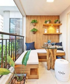 Exciting Small Balcony Decorating For Farmhouse22