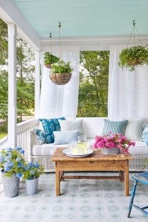 Exciting Small Balcony Decorating For Farmhouse28