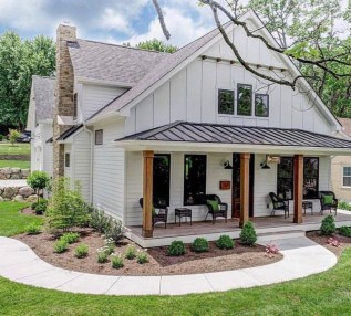 Marvelous Farmhouse Exterior Design Ideas13