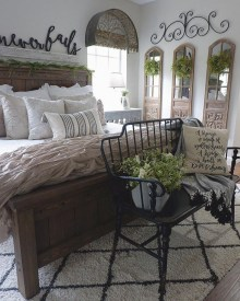 Modern Bedroom For Farmhouse Design36