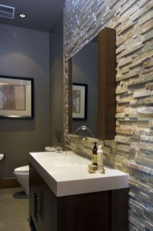 Simple Stone Bathroom Design Ideas44