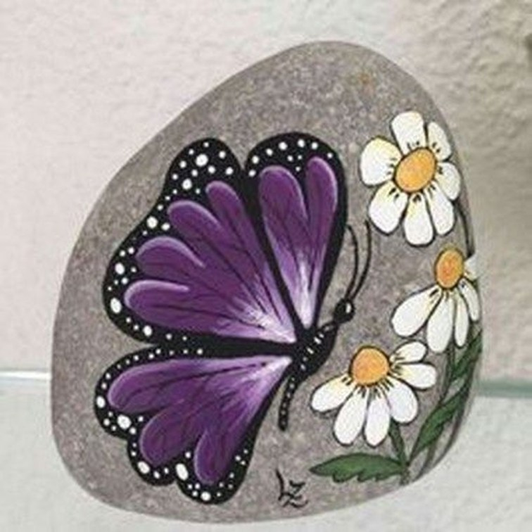 Smart Painted Rock Ideas Home Decoration08