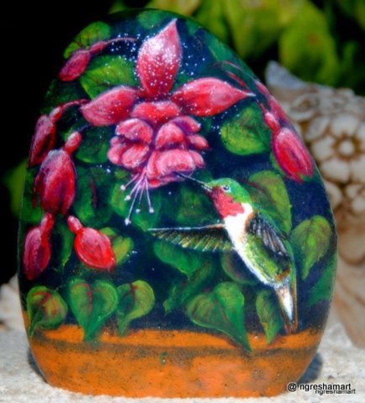 Smart Painted Rock Ideas Home Decoration18
