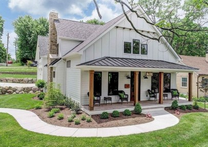 Top Modern Farmhouse Exterior Design39