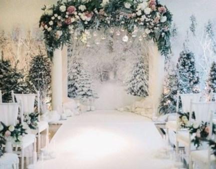 Awesome Winter Wonderland Wedding Decoration20