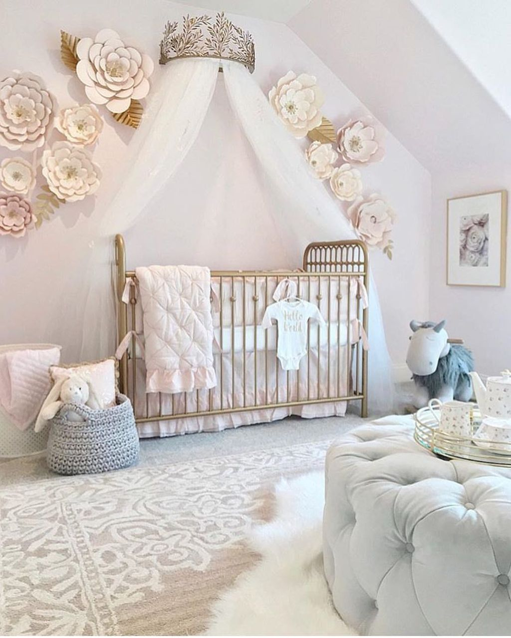 Cute And Cozy Bedroom Decor For Baby Girl33