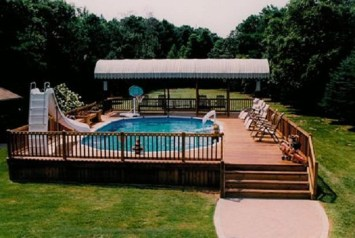 Landscaping Ideas For Backyard Swimming Pools45