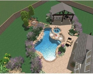 Landscaping Ideas For Backyard Swimming Pools46