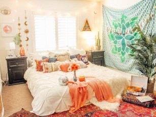 Awesome Bohemian Bedroom Tapestry Decorating Ideas41