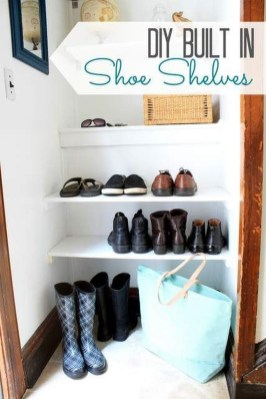 Awesome Shoe Storage Diy Projects For Small Spaces Ideas09
