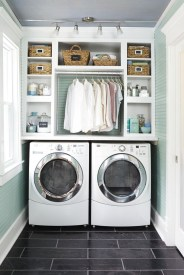 Beautiful Ideas For Tiny Laundry Spaces06