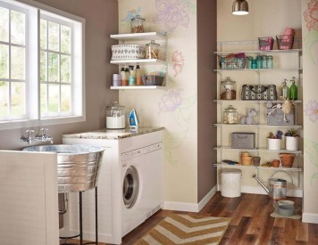 Beautiful Ideas For Tiny Laundry Spaces08